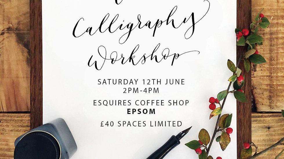 Modern Calligraphy EPSOM  12th June