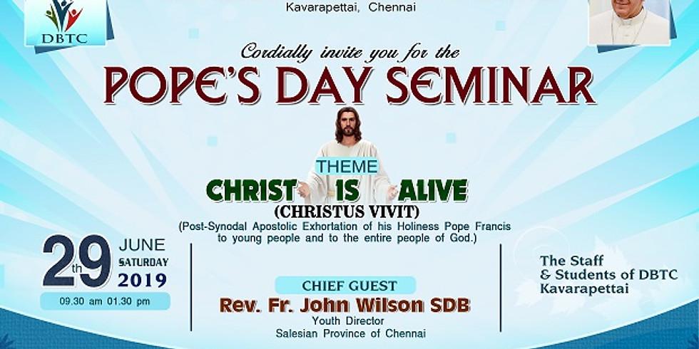 Pope's Day Seminar