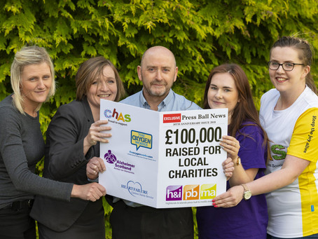 PRESS BALL CHARITY DONATIONS TOP £100,000 IN 30TH YEAR