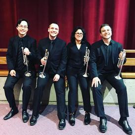 Offstage Trumpet crew for Verdi Requiem with Symphoria!