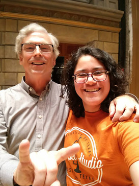Reunited with the great Jerry Junkin years after I graduated from UT Austin. Hook 'em Horns!
