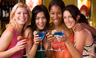 ladies drinking cocktails, fun with friends
