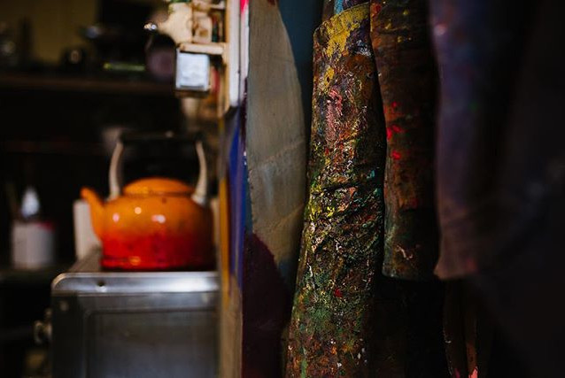 The colours and textures in Simon's shop