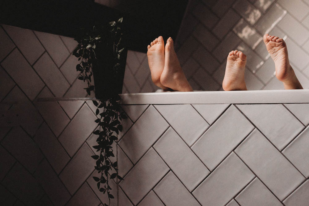 Feet in bath image by Charlotte Green