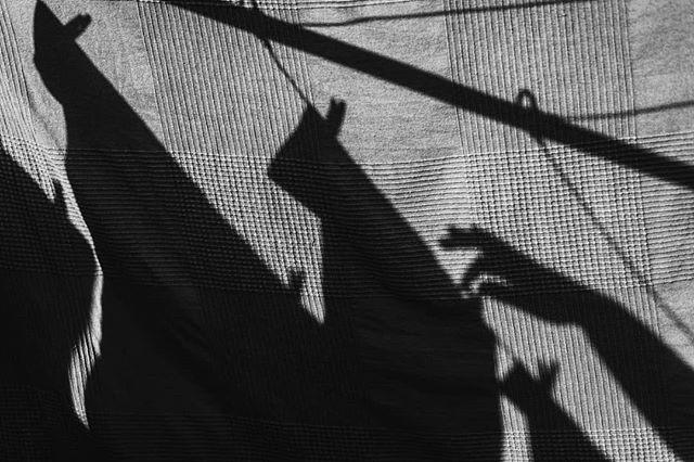 Hanging washing shadows