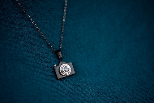 Black Camera Necklace