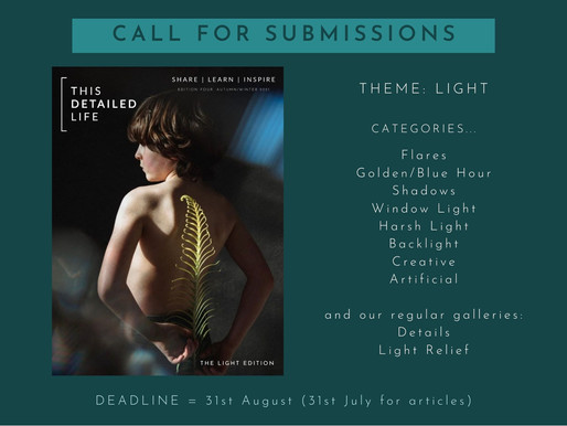 Submissions OPEN for Edition 4: LIGHT
