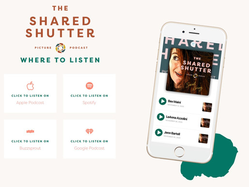 Bex on The Shared Shutter Podcast with Sarah Krieg
