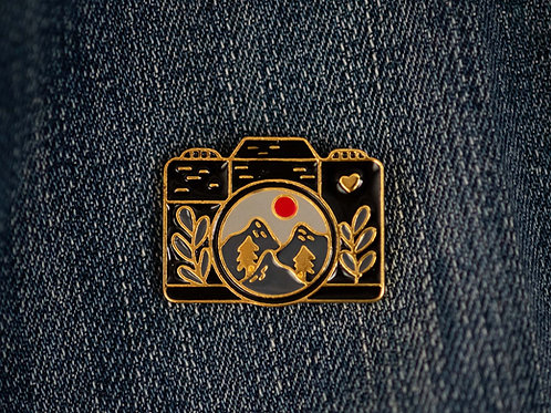 Landscape Camera Enamel Pin Badge