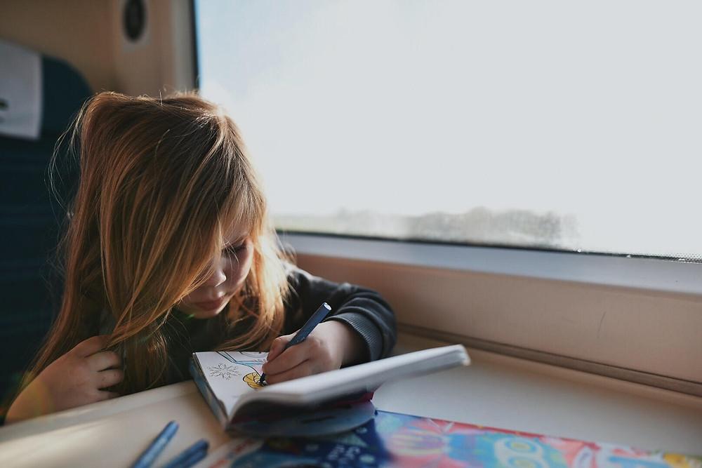 Train ride by Laura Aziz