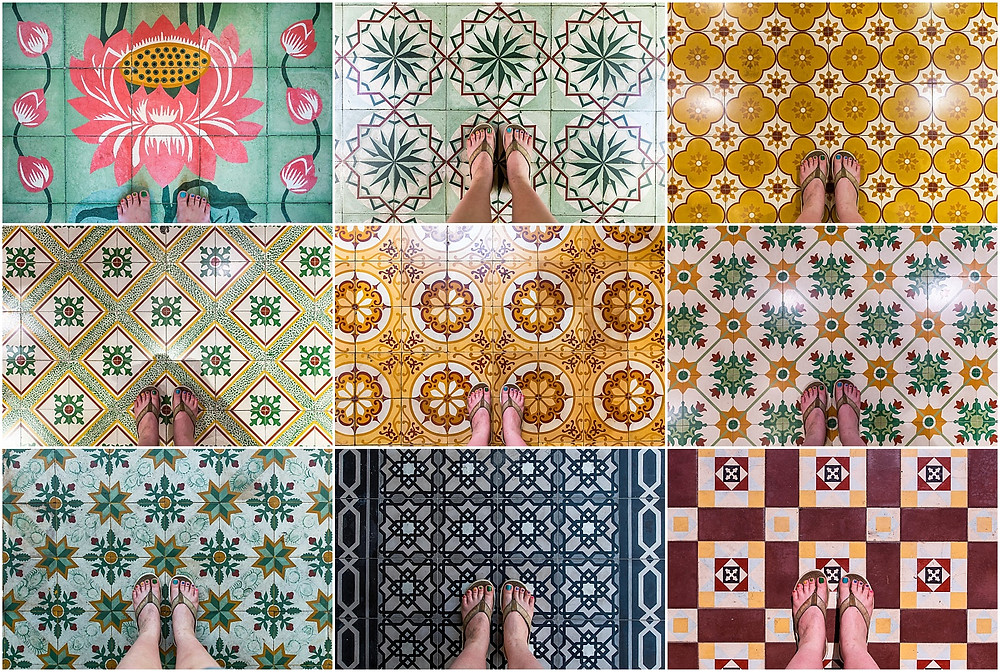 Penang tiled floors by Bex Maini