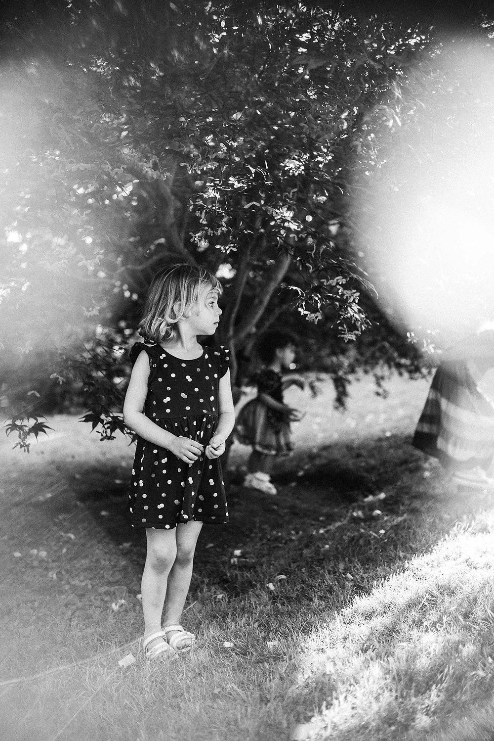 creative child portrait with prism effect