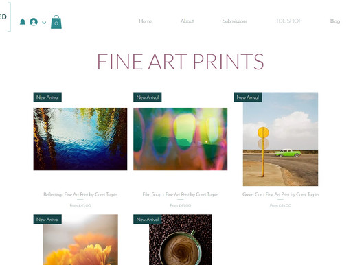 Fine Art Print Shop - Now Open For Submissions!