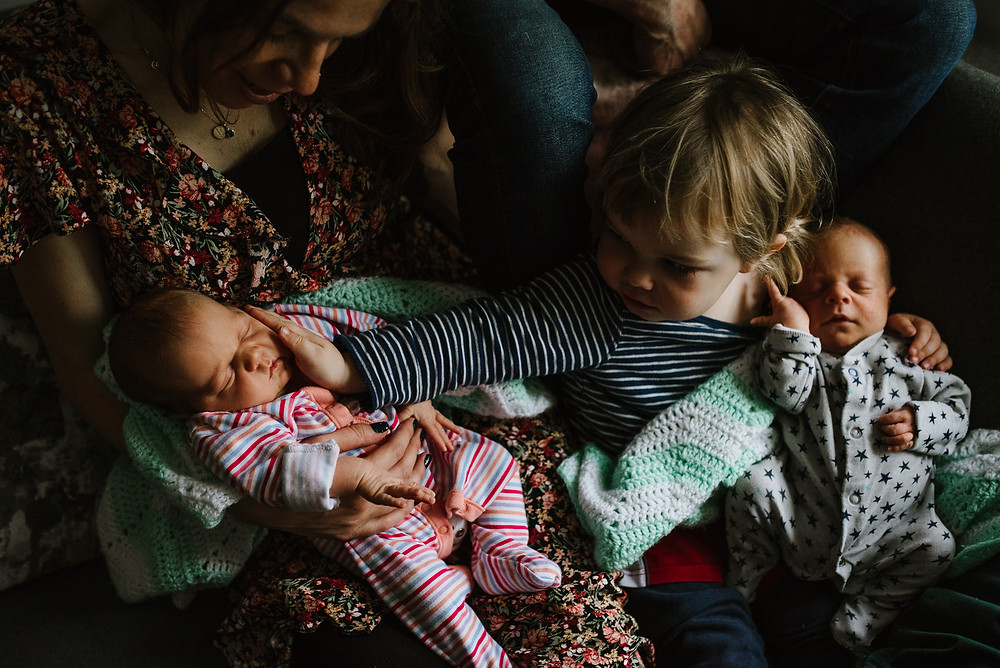 Big Brother with baby twins
