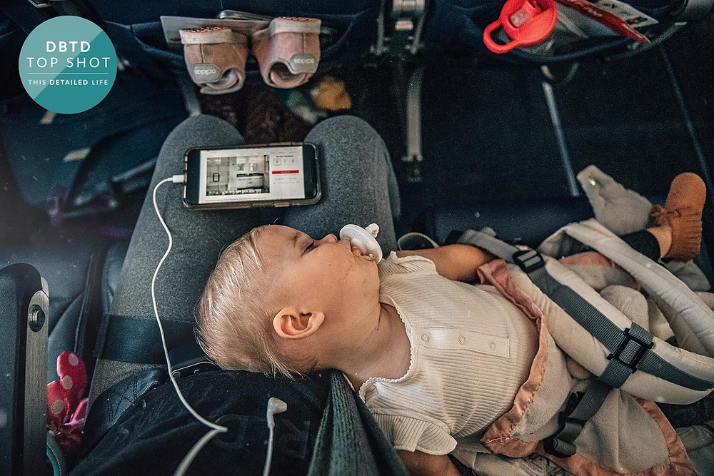 Baby and chaos on flight