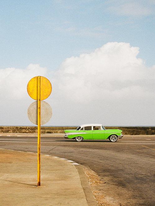 Green Car - Fine Art Print by Cami Turpin