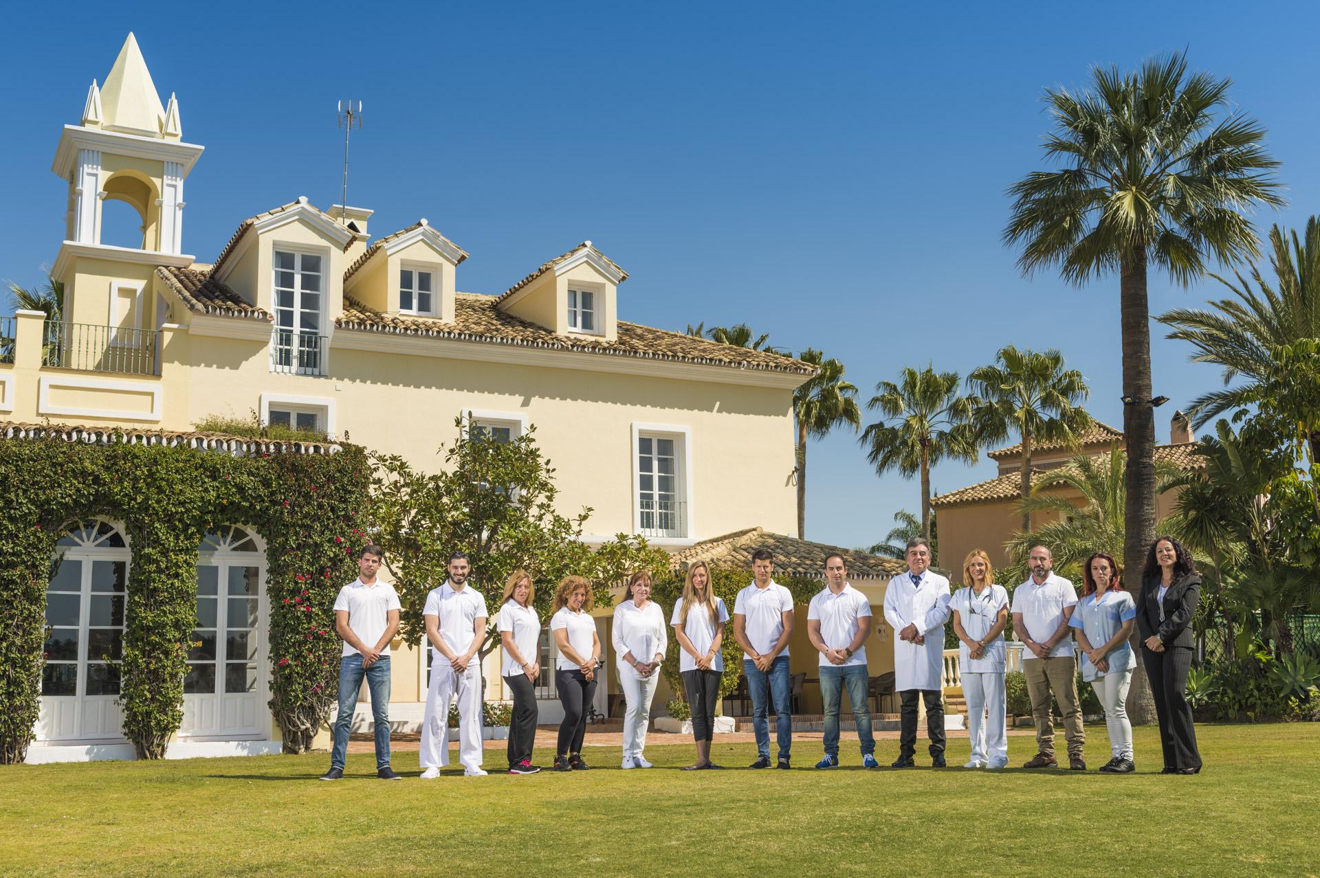 Fotografía de grupo en Marbella.