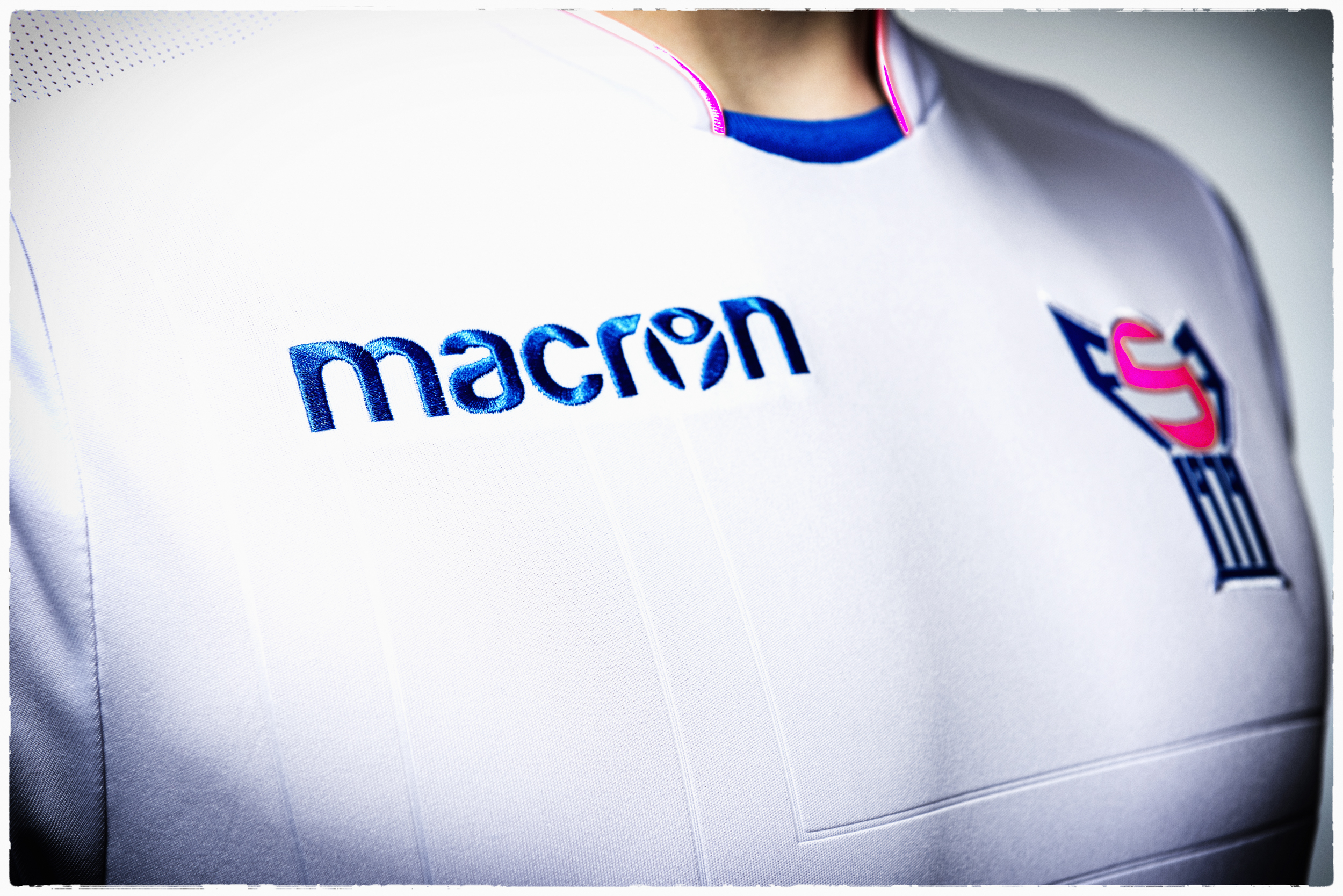 Macron football clothing.