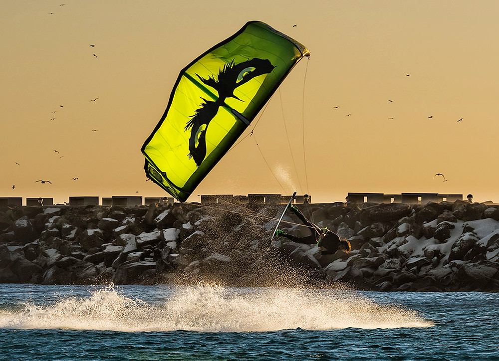 Wainman Hawaii photo shoot in Tarifa, Cadiz, Andalusia, Spain.