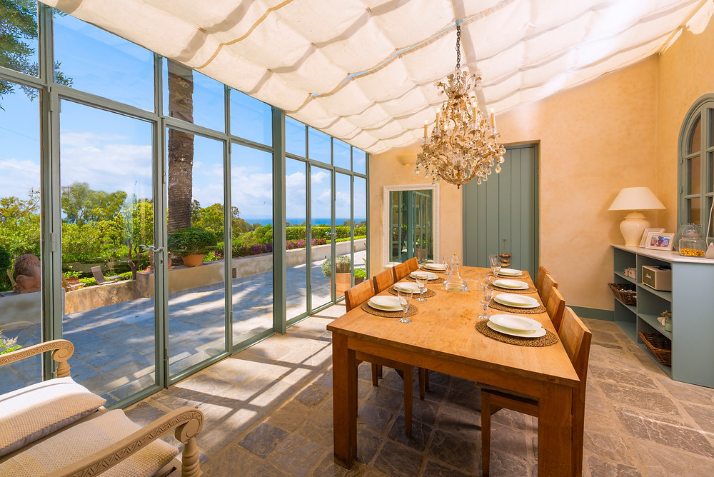 Dining room with views.