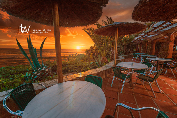 Hurricane hotel terrace.