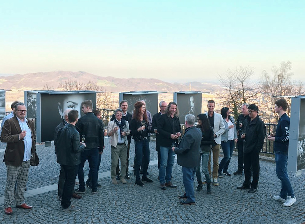 Photographers and organisation together at the photo art gallery in Linz, Austria.
