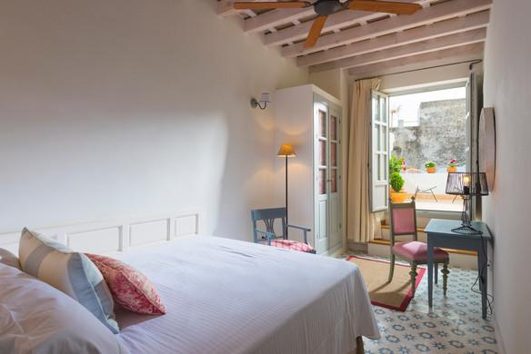 Hotel room in Vejer de la Frontera, Cadiz, Andalusia.