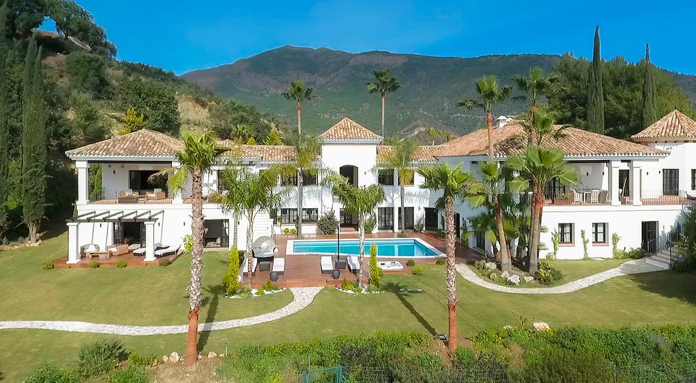 Drone view of the property in La Zagaleta.