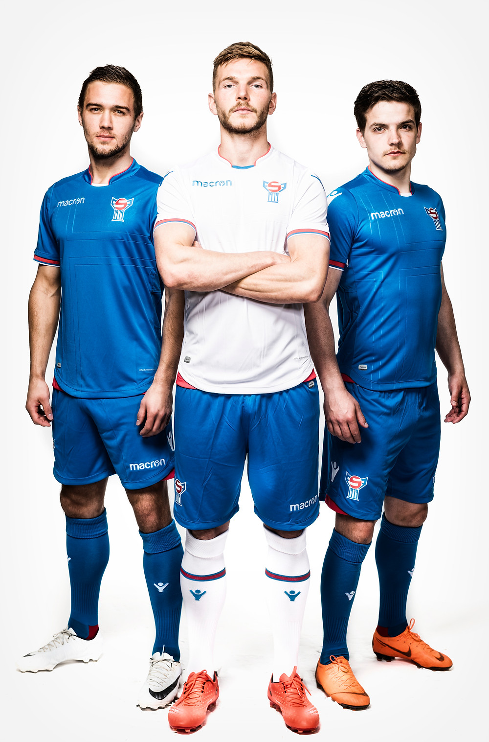 Some of the top football players of the Faroe team