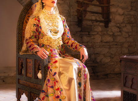 Luxury Kaftan dresses from Tangier, Morocco.