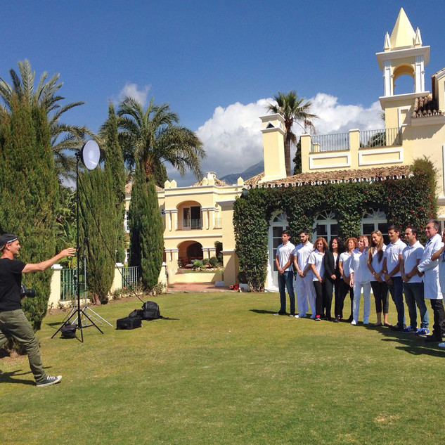 Group potrait at Marbella, Malaga, Spain.