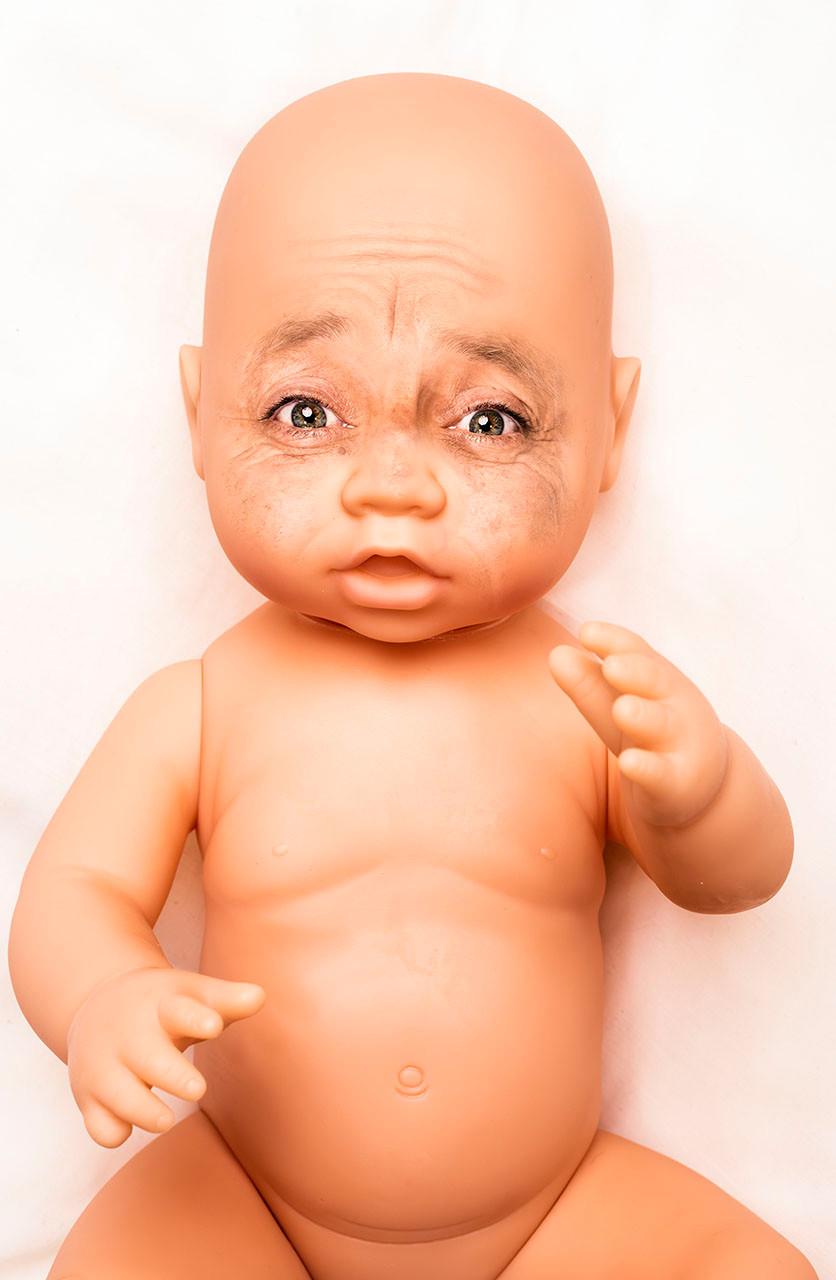 Old baby, was created and retouched using photoshop cc