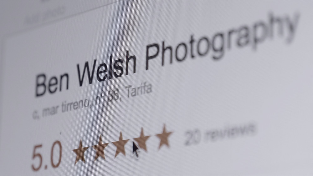 Ben Welsh photography has a 5 star rating on Google.