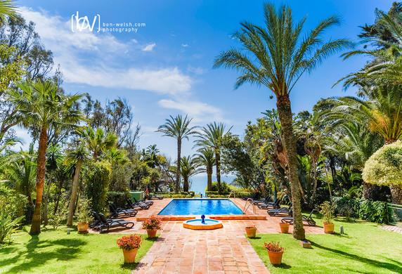 Hurricane hotel garden.