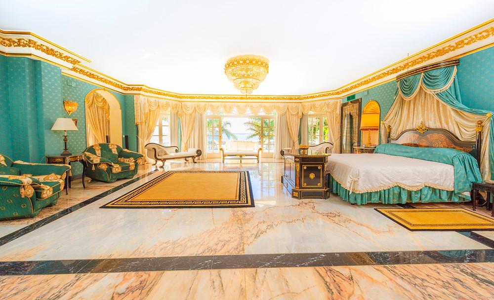 Master bedroom in Marbella, Spain.