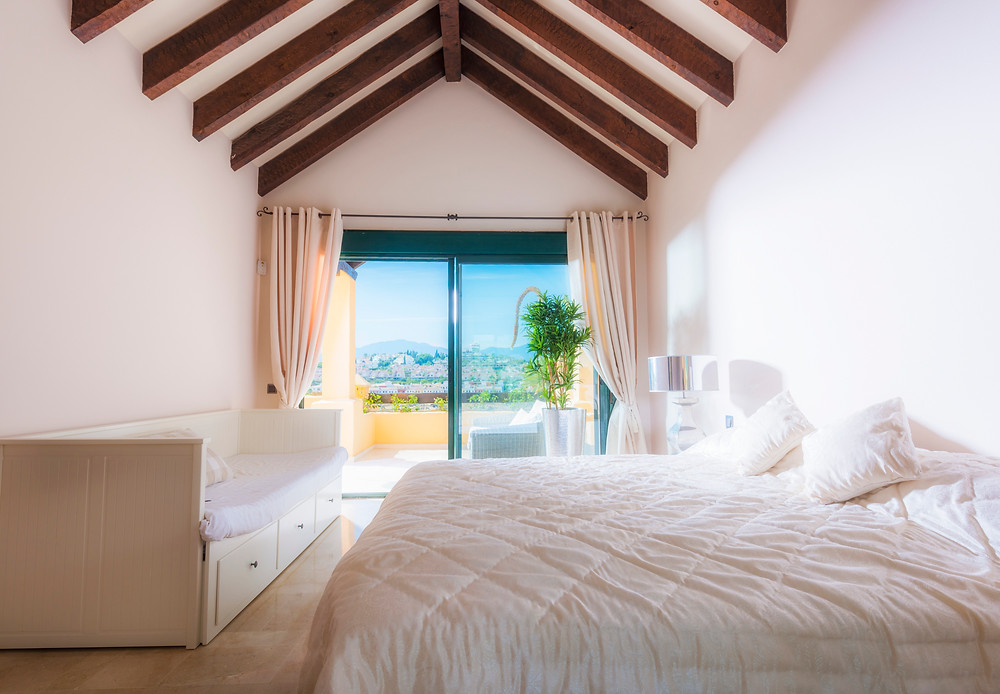 Master bedroom view towards the terrace.