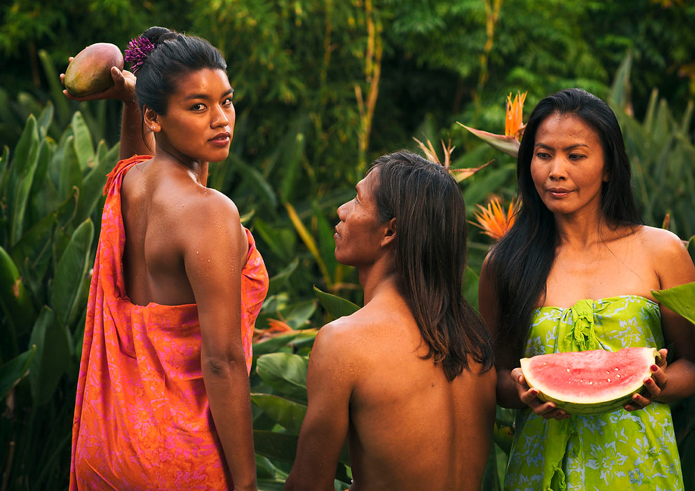Models; Sandy, Basri and Deng posed for the photographer Ben Welsh.