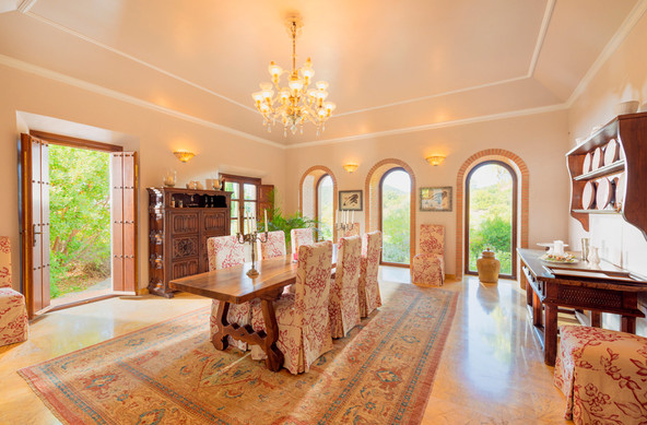 Large dining room.