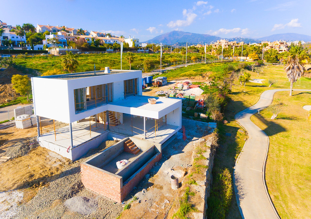 Drone photography of real estate in Marbella, Southern Spain.