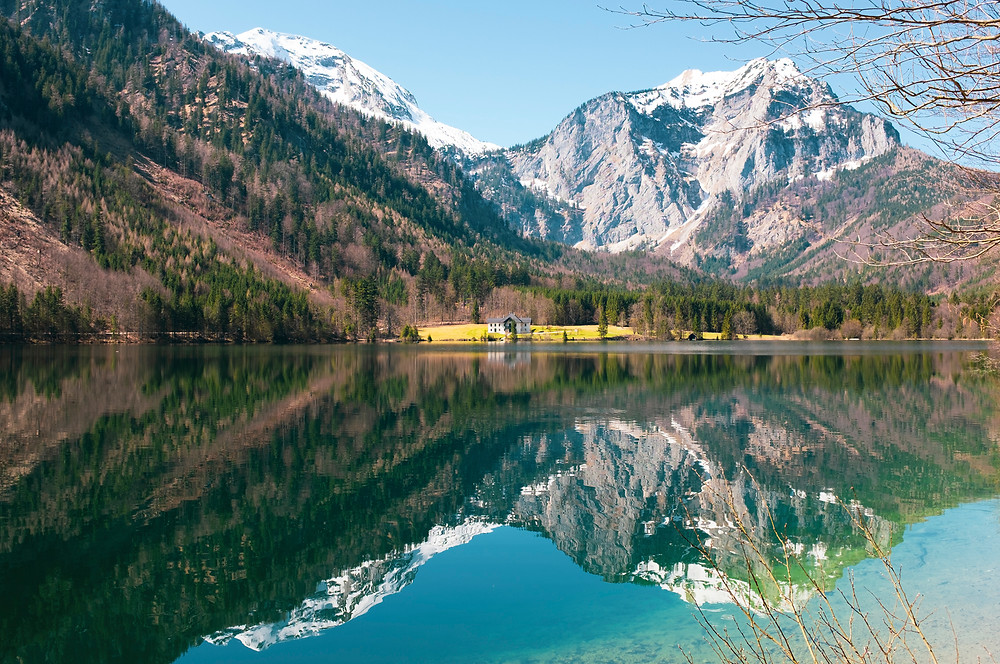 The lake district in the Alpes, close to Linz, Austria.