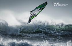 Windsurf action.
