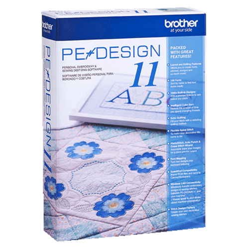 Brother PE Design 11 - Personal Embroidery and Sewing Digitizing Software