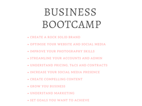 WHAT IS THE BUSINESS BOOTCAMP?