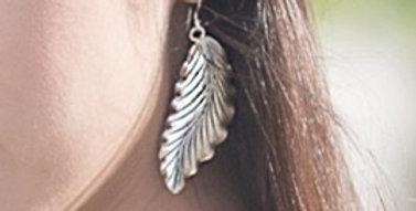 Foliage Earring in Oxidized Silver