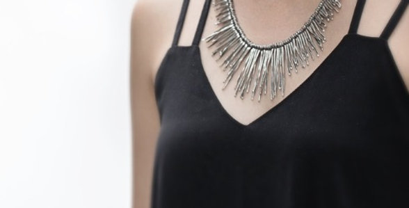 Sway Necklace in Oxidized Silver