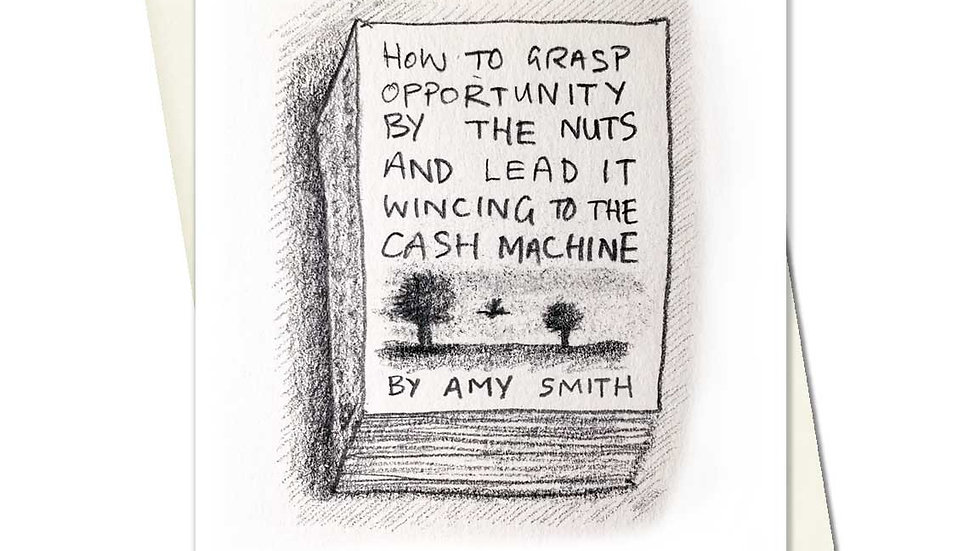 How To Grasp Opportunity By The Nuts Greetings Card