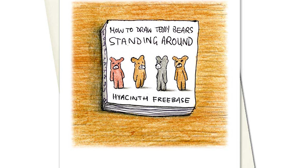 How To Draw Teddy Bears Standing Around Greetings Card