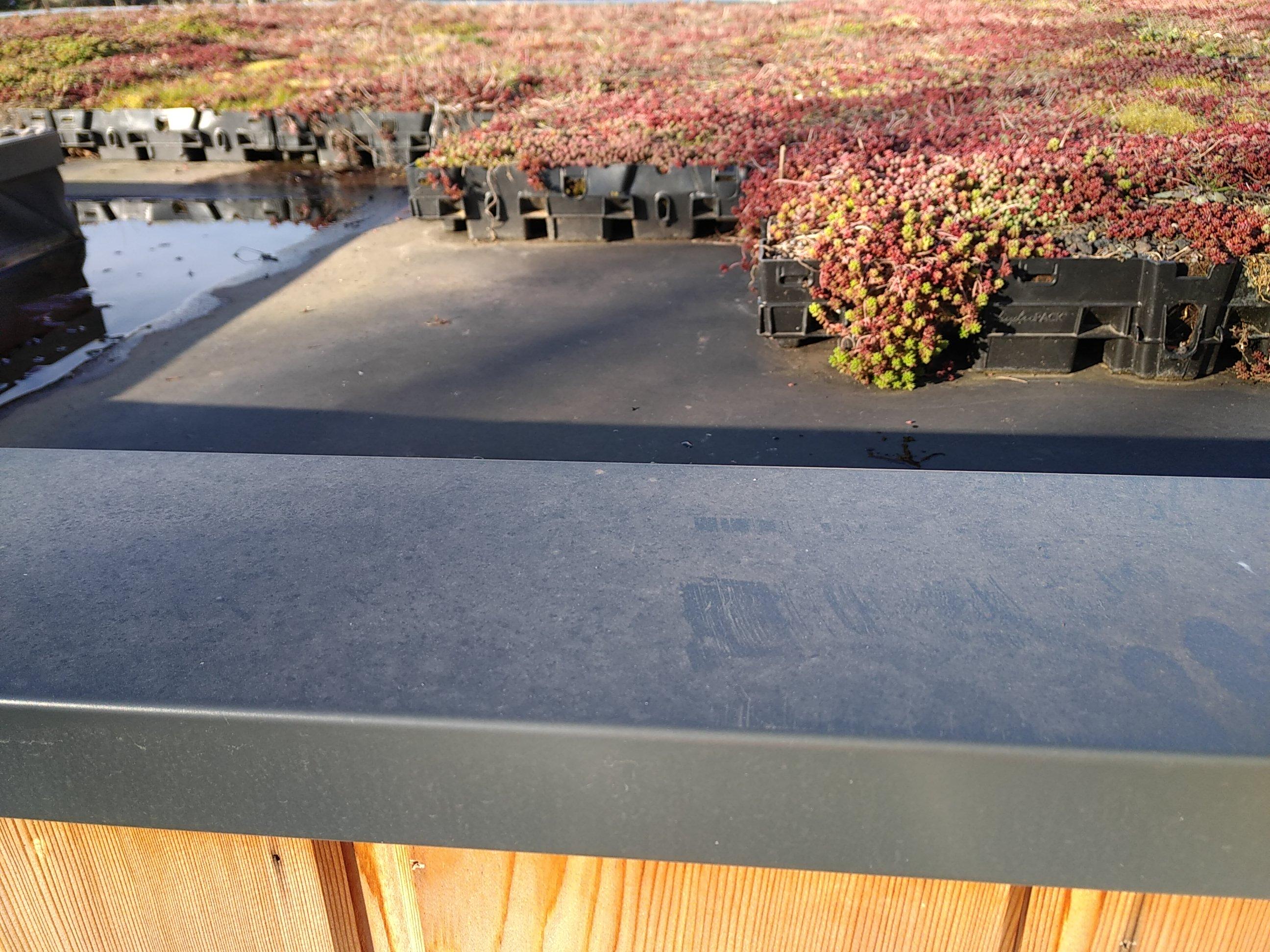 Végétalisation toiture : pose de bacs plastiques
