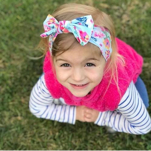 Headband bebé - aqua floral