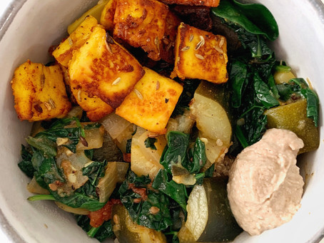 Paneer with a Mediterranean- Indian Flare